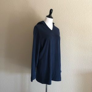 NWT Pure Jill Long Sleeve Blue Soft Cotton Top 3X